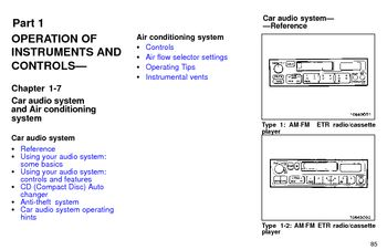 1997 Toyota Avalon Audio System (in English)