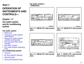 1996 Toyota Avalon Audio System (in English)