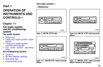 1997 Toyota Camry Audio System (in English)