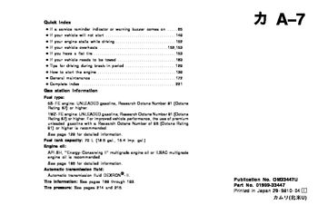 1996 Toyota Camry Owner's Manual (in English)