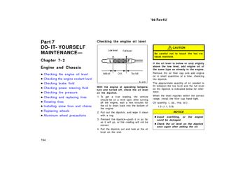 1998 Toyota RAV4 Engine and Chassis (in English)