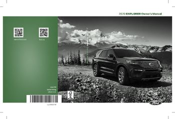 2020 Ford Explorer Owner's Manual (in English)