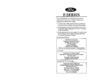 1996 Ford F-350 Owner's Manual (in English)