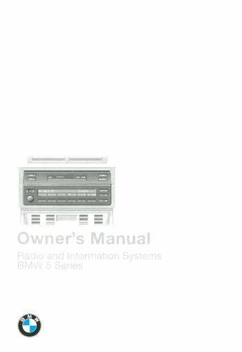 1997 BMW 5 Series Owner's Manual (in English)
