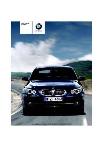 2009 BMW 528i Owner's Manual (in English)