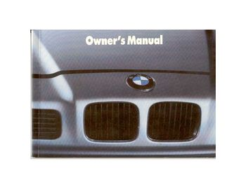 1989 BMW 850i Coupe Owner's Manual (in English)