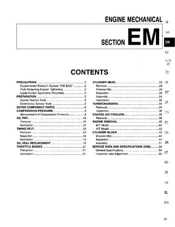 1995 Nissan 300ZX Engine Mechanical (Section EM) (in English)