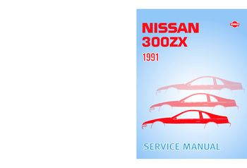 1991 Nissan 300ZX Service Manual (in English)
