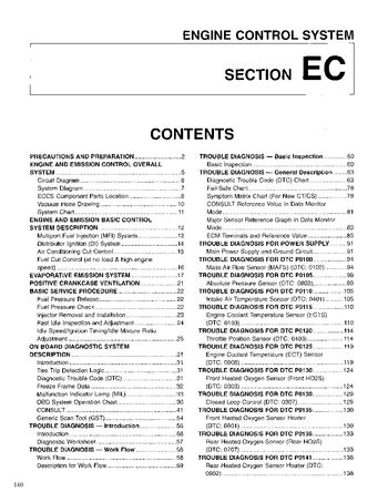 1996 Nissan D21 Emission Control System (Section EC) (in English)