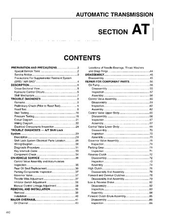 1996 Nissan D21 Automatic Transmission (Section AT) (in English)
