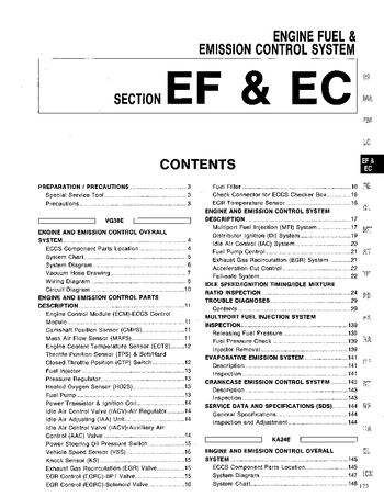 1994 Nissan D21 Emission Control System (Section EC) (in English)