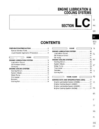 1994 Nissan D21 Cooling Systems (Section LC) (in English)