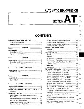 1994 Nissan Pathfinder Automatic Transmission (Section AT) (in English)