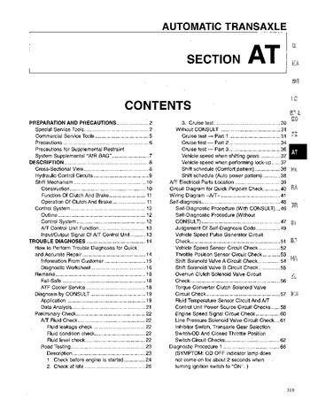 1994 Nissan Quest Automatic Transmission (Section AT) (in English)