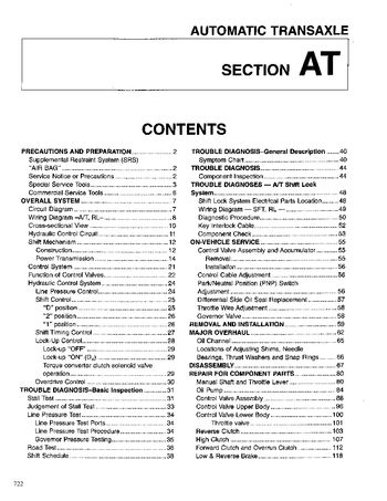 1999 Nissan Sentra Automatic Transmission (Section AT) (in English)