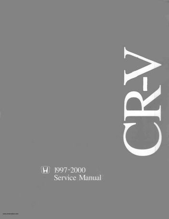 2000 Honda CR-V Service Manual (in English)