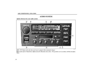 1998 Lexus LS400 Audio System (in English)