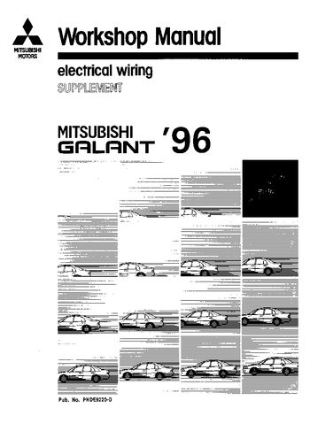 1996 Mitsubishi Galant Electrical Wiring (in English)