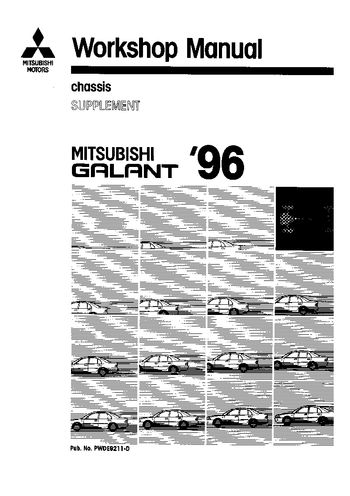 1996 Mitsubishi Galant Workshop Manual - Chassis (in English)
