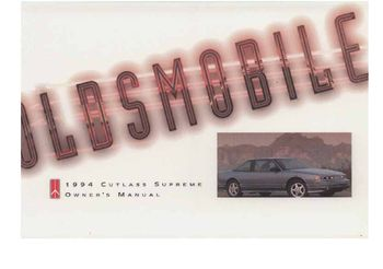 1994 Oldsmobile Cutlass Supreme Owner's Manual (in English)