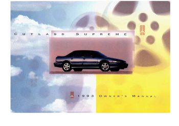 1993 Oldsmobile Cutlass Supreme Owner's Manual (in English)