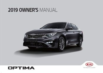 2019 KIA Optima Owner's Manual (in English)