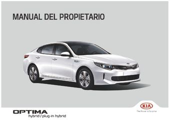 2018 KIA Optima Plug-in Hybrid Manual del propietario (Español (in Spanish))
