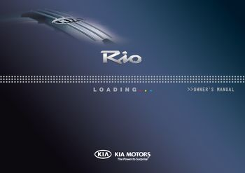 2010 KIA Rio / Rio Hatchback Owner's Manual (in English)