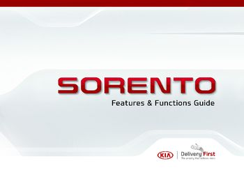 2017 KIA Sorento Features & Functions Guide (in English)