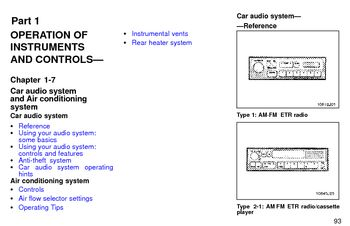 1997 Toyota 4Runner Audio System (in English)