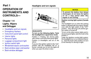 1997 Toyota 4Runner Lights, Wipers and Defogger (in English)